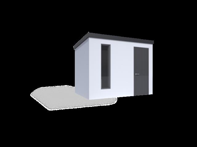 montovaný zahradní domek s pultovou střechou