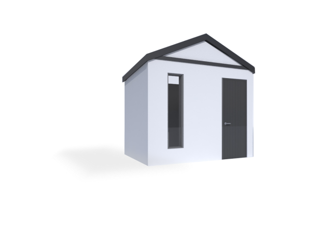 montovaný zahradní domek se sedlovou střechou