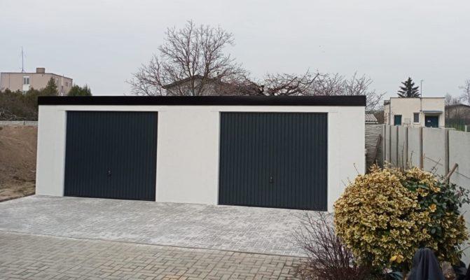 Montovaná garáž dvoje výklopná vrata