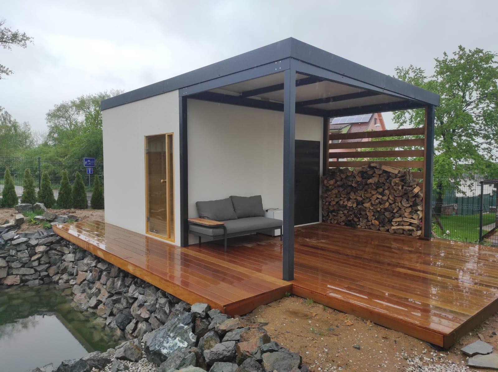 Zahradní domek se saunou